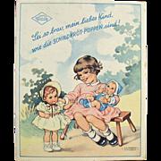 Old, Rheinische Gummi Celluloid Dolls, Booklet - Beautiful Graphics