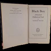 "Vintage Book ""Black Boy"" by Richard Wright - 1945, Hardbound"