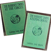 """Two """"Bobbsey Twins"""" Books - Keeping House & At the Circus"""