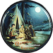 Vintage Marshmallow Tin - Campfire Supreme with Camping Scene