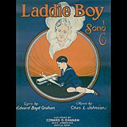 Vintage Sheet Music- Laddie Boy - Orphan's Song