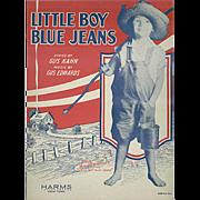 Vintage Sheet Music - Little Boy Blue Jeans - 1928