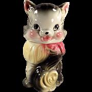 Vintage Cookie Jar - Cute Kitten - American Bisque Fluffy Cat