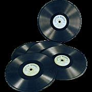 "Vintage ""Little Wonder"" Phonograph Records - Lot of Five"