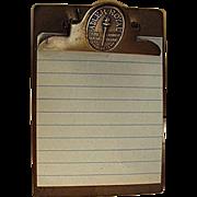 Vintage, Adler-Royal Cabinet, Advertising Clipboard by Whitehead & Hoag
