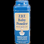 Vintage, Z.B.T. Baby Powder Tin