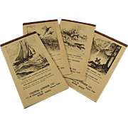 Vintage, Advertising Notepads with Etching by R.H. Palenske