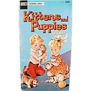 SOLD Vintage Coloring Book, Unsed - Kittens and Puppies