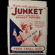 Vintage Junket, Trial Sample Advertising Box