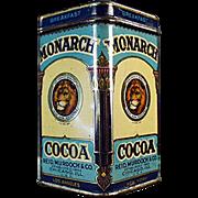 Vintage, Monarch Cocoa, Sample Tin - Nice Graphics