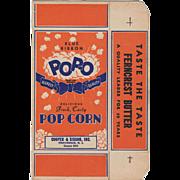Vintage, Blue Ribbon, Pop-O Popcorn Box