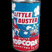 Vintage Popcorn Tin - Little Buster - Full, Never Opened