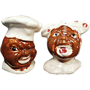 Vintage Black Memorabilia S & P Set - Mammy & Chef