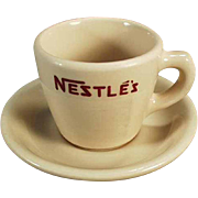 Vintage Nestle's, Hot Chocolate, Cup and Saucer