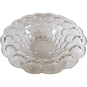 Vintage Heisey Console Bowl - Pretty Provincial Pattern - Two Available
