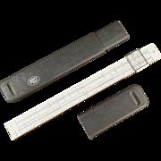 Old Slide Rule with Magnifier - Hemmi Japan - Post #1447