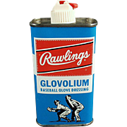 Vintage Glove Dressing Tin - Rawlings Glovolium