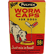 Vintage Advertising Box - Worm Caps from the 1960's