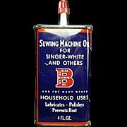 Vintage, Bega Machine Oil Advertising Tin