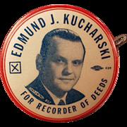 1956 Political Campaign, Vintage Celluloid, Advertising Tape Measure