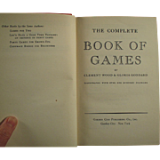Vintage, Book of Games - The Complete Book of Games - 1940 Hardbound