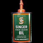 Vintage, Singer Sewing Machine, Oil Tin