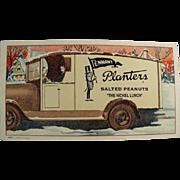 Vintage Ink Blotter - Planters Peanut Advertising
