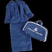 Vintage, Barbie Doll Clothes - #984 Airline Stewardess 1961-1964 - Partial Outfit