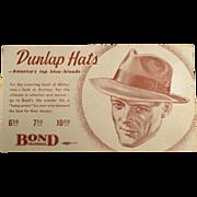 Vintage Ink Blotter - Men's Fashions, Dunlap Hats