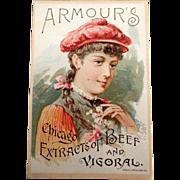 Vintage Trade Card - Armour's Vigoral - 1891