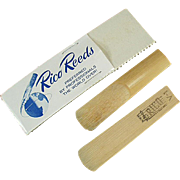 Vintage Bamboo Reeds - Rico with Original Package