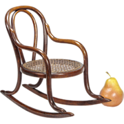 Miniature Bentwood Rocker - Doll Furniture - Toy Chair