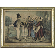 The Village Dandy - E B & E C Kellogg Print with Antique Gilded Frame