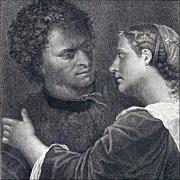 The Lovers - Antique Engraving after Giorgione (Giorgio Da Castelfranco) by Domenico Cunego from Gavin Hamilton's Schola Italica Picturae, 1773, London