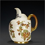 "LARGE 1885 Royal Worcester Pitcher / Jug - "" Patent Metallic """