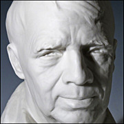Robert Frost in Porcelain by Listed Sculptor Joe Brown