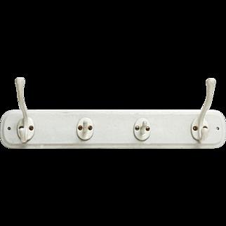 Vintage white porcelain hook rack