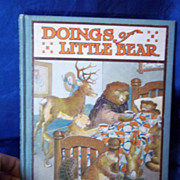 """1915 Edition of """"Doings of Little Bear"""" by Frances M. Fox"""