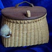 Vintage Handmade Woven Miniature Fishing Creel