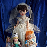 Collection of 5 Dolls from 40's and 50's