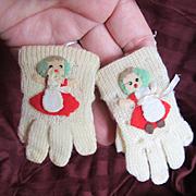 Vintage Wool Doll Gloves