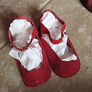 60's Red Doll Shoes