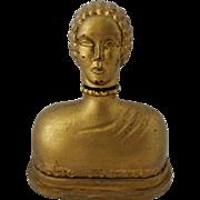RARE - Hattie Carnegie Gold Figural Perfume Bottle - Only Fine Lines