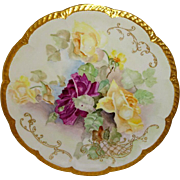 Haviland - Limoges - Charger - Plate - Tray - Hand Painted - Roses - Signed - Circa 1896 - Only Fine Lines