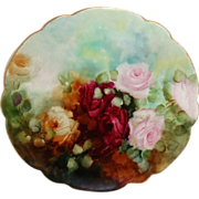 Limoges - France - Ranson Plate - Hand Painted - Romantic Bouquet - ROSES - Treasured Heirloom - Only Fine Lines