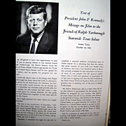 Vintage Political Ephemera - Texas Salute to United States Senator Ralph W. Yarborough -- Amazing Political Ephemera