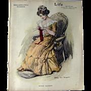 Vintage Life Magazine William Van Dresser Cover January 25 1912 / Turn of The Century Magazine / Vintage Advertising