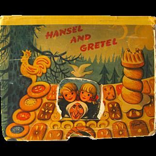 SALE Hansel and Gretel Pop-Up Book 1961 / Color Illustration / Childrens Book / 3D Book