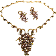 Runway Cluster Necklace and Earring Demi Parure
