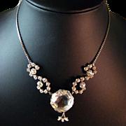 Large Crystal and Rhinestone Vintage Necklace